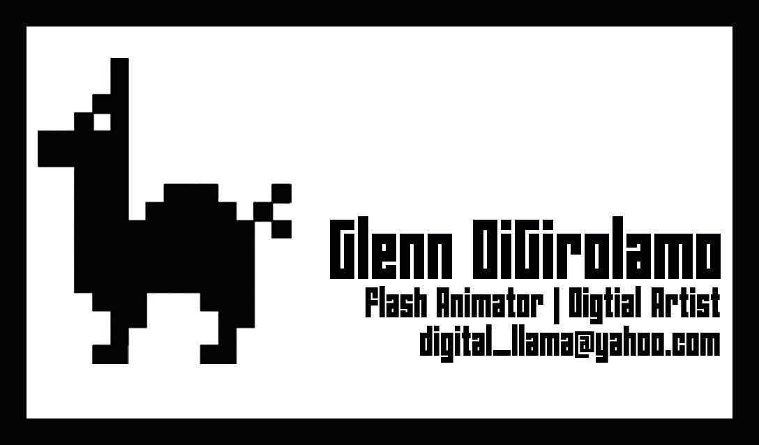 Digital Llama Process Blog: Digital LLama Logo and cards.