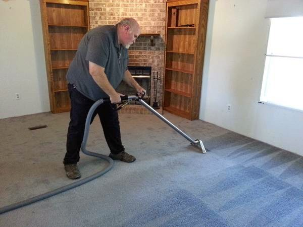 Carpet cleaning in progress, $99 job