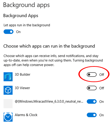 Stop Windows 10 Background Apps