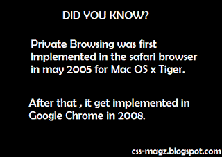 private browsing did you know
