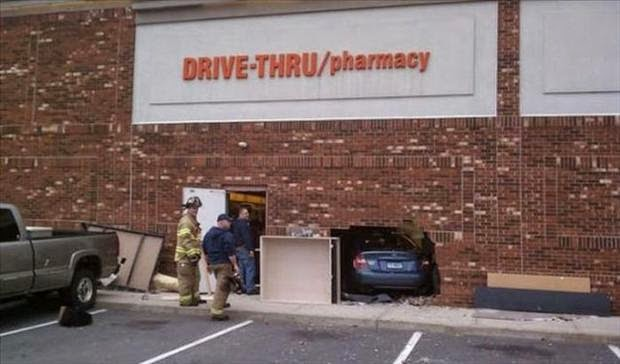 Funny Drive-thru Pharmacy Fail Joke Picture