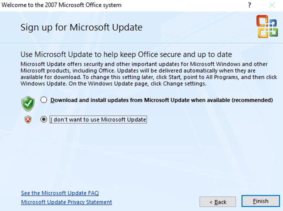 Microsoft Office Enterprise 2007 đã kích hoạt giấy phép