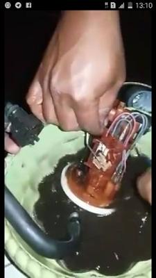 fuel pump terbakar