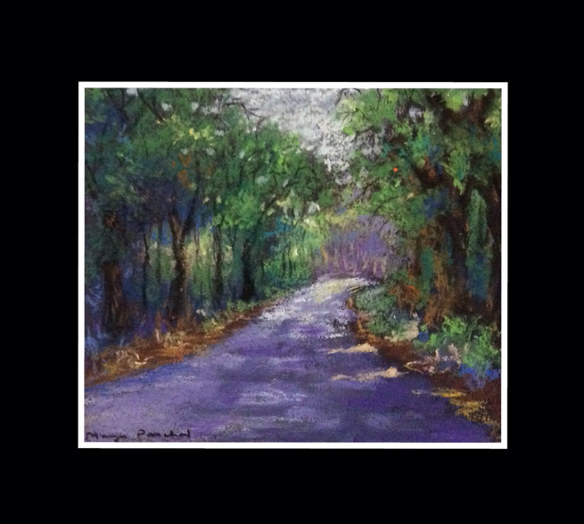 Soft pastel painting of a Landscape by Manju Panchal