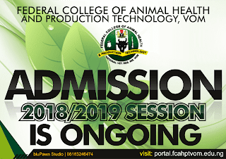 FCAHPTVOM, Jos 2018/2019 Remedial, ND & HND Admission Form Out