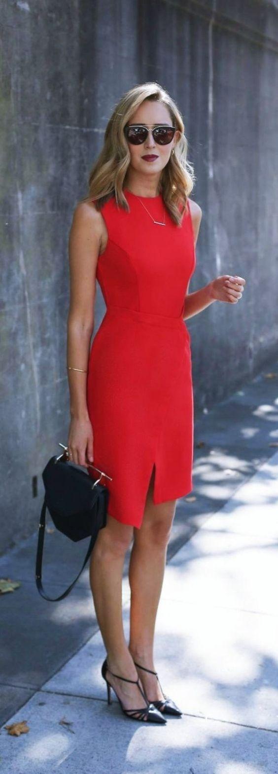 Chiara Ferragni Red Midi Dress