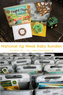 National Ag Week Baby Bundles - Fun Service Project for the next generation celebrating agriculture