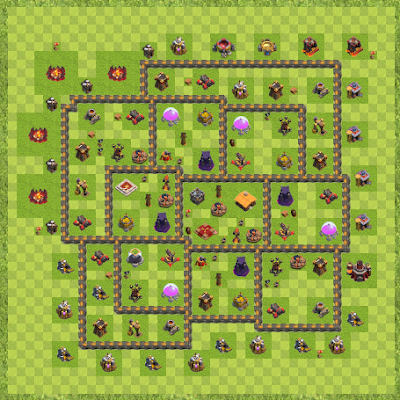 War Base Town Hall Level 10 By TahoeLT (Un-valkable TH 10 Layout)