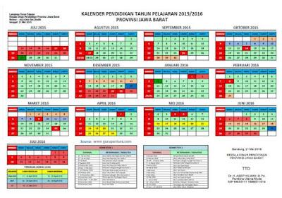 Kalender Pendidikan 2015-2016 Jawa Barat