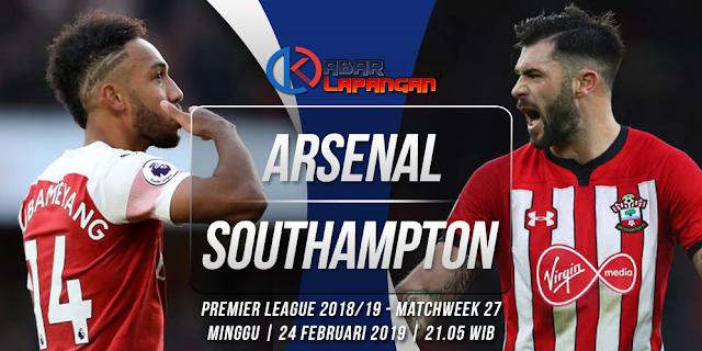 Prediksi Bola Arsenal vs Southampton Liga Inggris