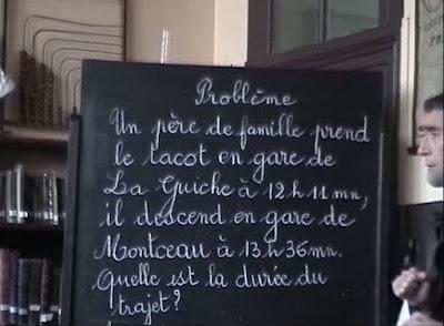 Le problème sur le Tacot de Beaubery (scène du film, acteur Pierre Réthy)