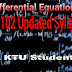 MA-102 Differential Equations Updated Syllabus