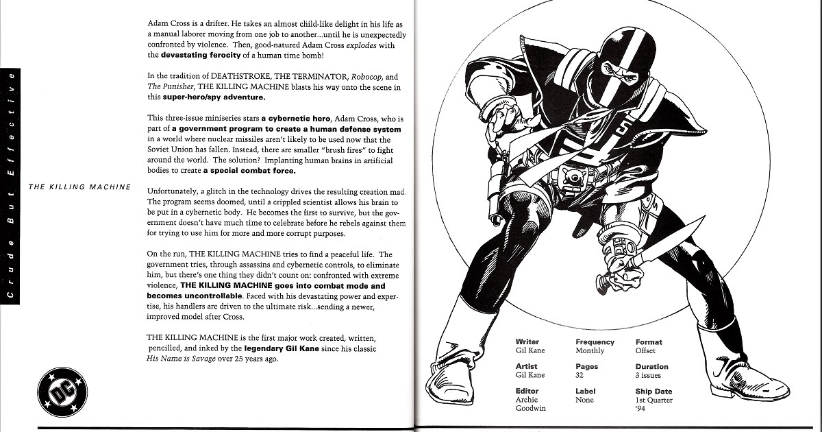 ...nurgh...: DC Comics 1993 Editorial Presentation: The