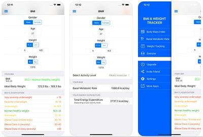aplikasi penghitung indeks massa tubuh ideal iphone