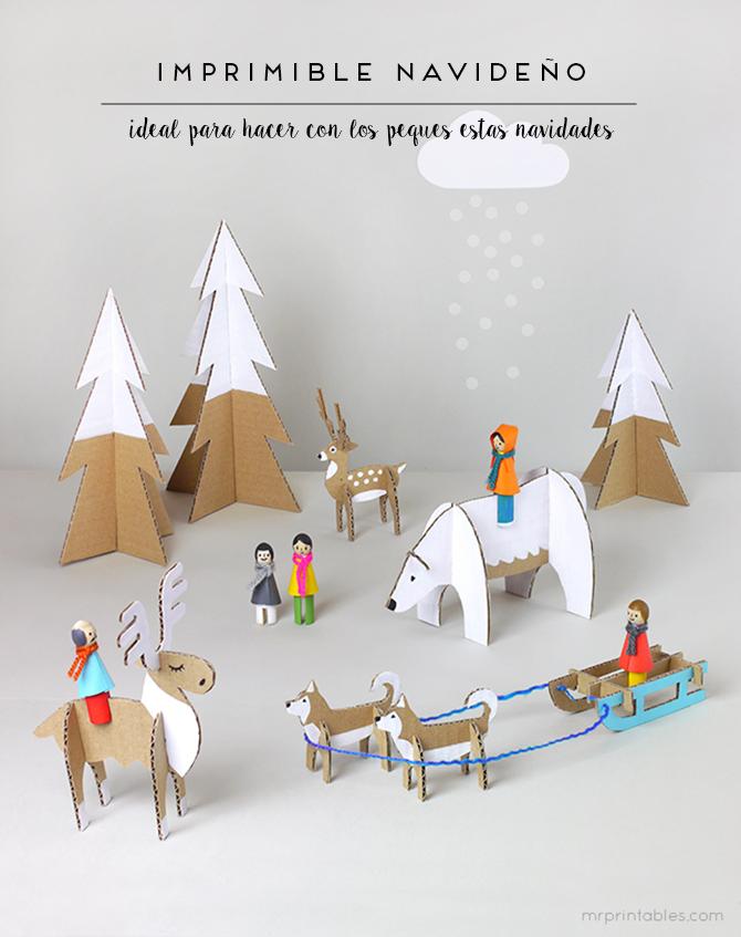 manualidades con papel navidad
