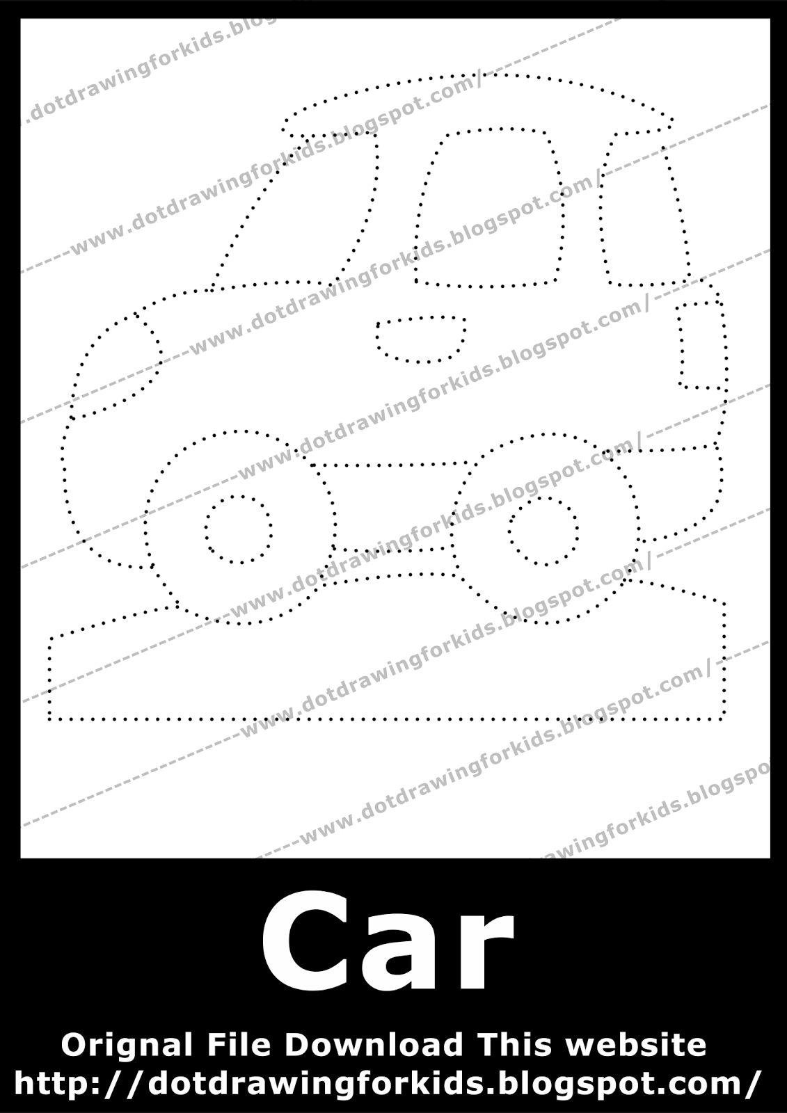 car dot drawing for kids dot to dot drawings free dotted drawing images [ 1131 x 1600 Pixel ]