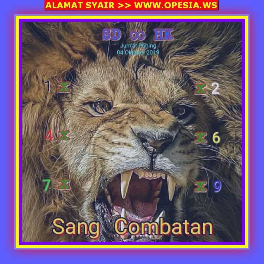 Kode syair Hongkong Jumat 4 Oktober 2019 58