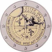 vatikaani 2 euroa kolikko tähtitiede 2009