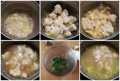 Como hacer Guiso de coliflor con patatas y huevo