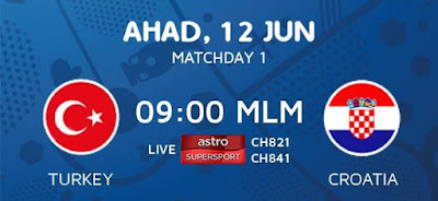Live Streaming Keputusan Turki Vs Croatia EURO 2016