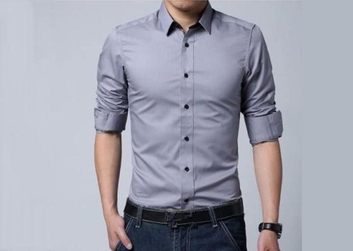 05fbd9562d619 Camisas Slim fit - Entalladas gris