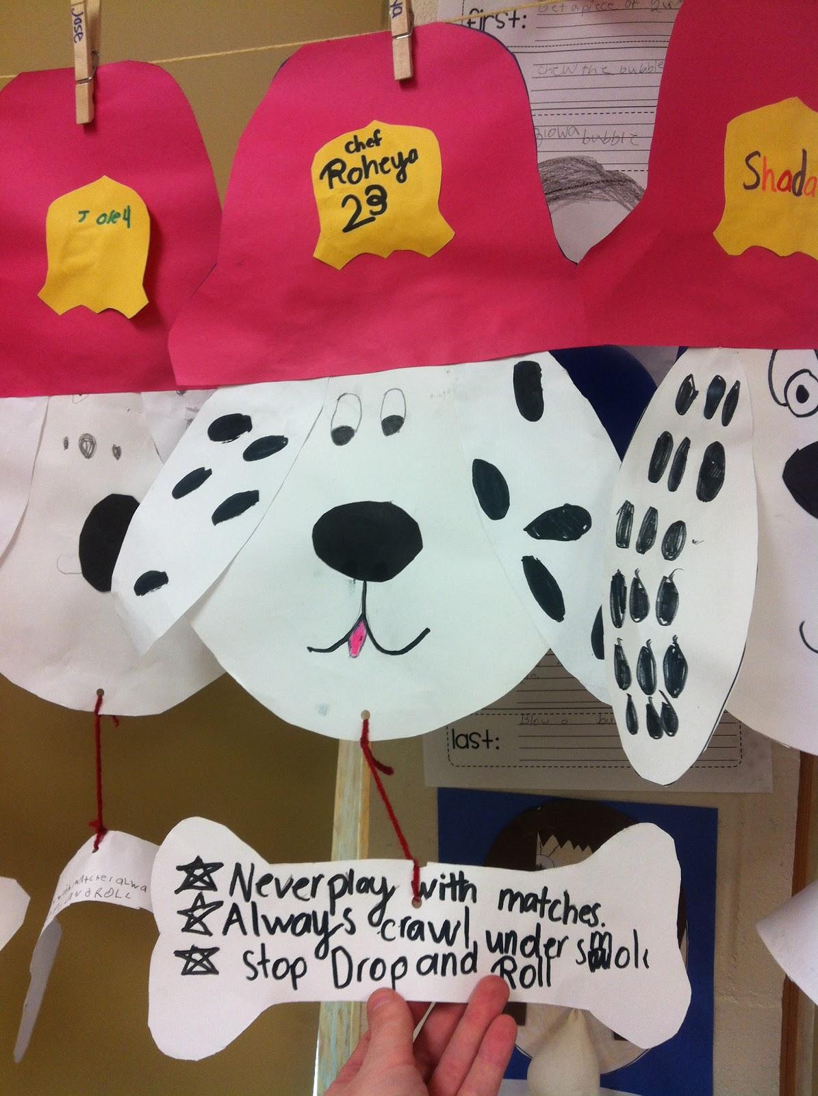 Buzz Around In Second Grade Fire Safety Dog Craftivity