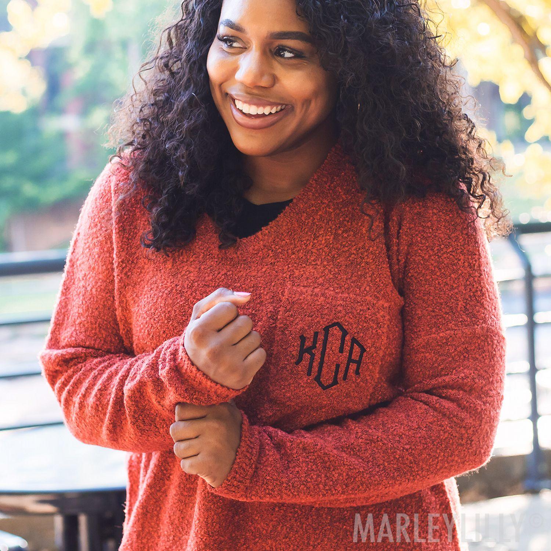 Red Boyfriend Sweater