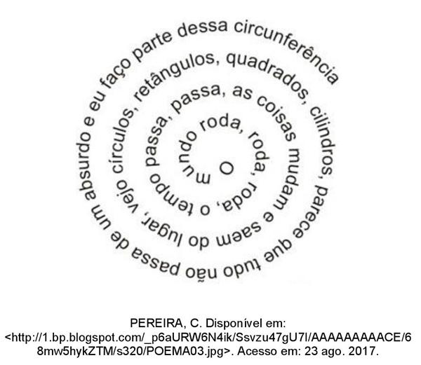 O mundo roda, roda, roda, o tempo passa, passa, as coisas mudam e saem do lugar, vejo circulos, retângulos, quadrados, cilindros, parece que tudo não passa de um absurdo e eu faço parte dessa circunferência