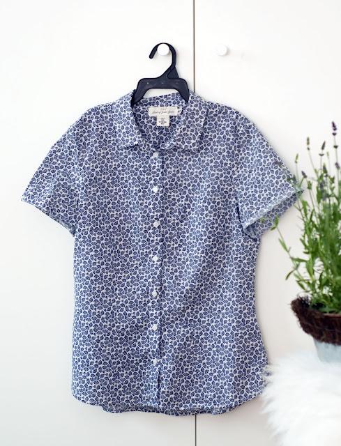 koszula z bawełny z H&M wyprzedaż