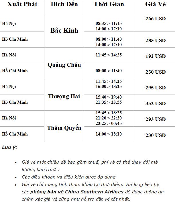 Bảng giá vé máy bay đi Trung Quốc online