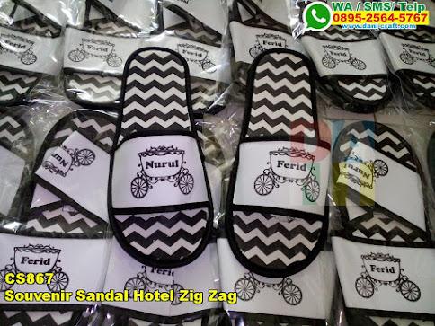 Jual Souvenir Sandal Hotel Zig Zag