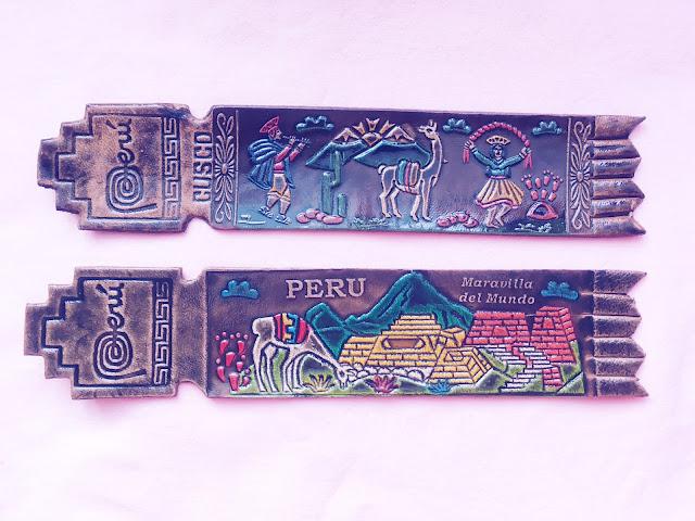 Marcadores de página do Peru