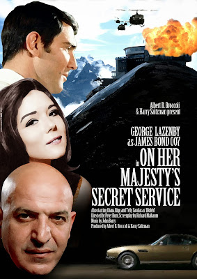 Poster Of Hollywood Film On Her Majesty's Secret Service (1969) In 300MB Compressed Size PC Movie Free Download At worldfree4u.com