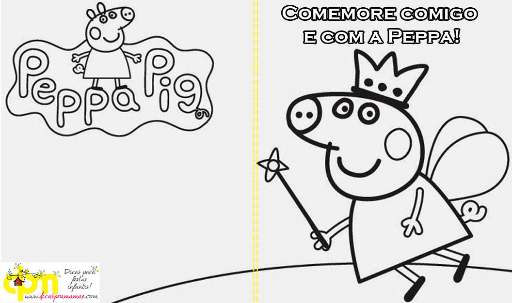 Livrinho De Colorir Da Peppa Pig Lembrancinha Para Festa Da