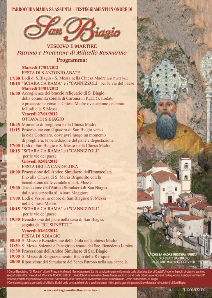 San Biagio Giorno Calendario.Militello Rosmarino Festa Di S Biagio Radio Stereo Sant