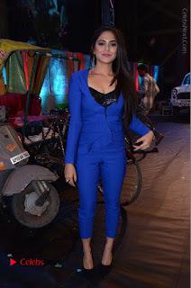 Actress Naina Ganguly Stills in Blue Dress at RGV Shiva to Vangaveeti Event  0056.JPG