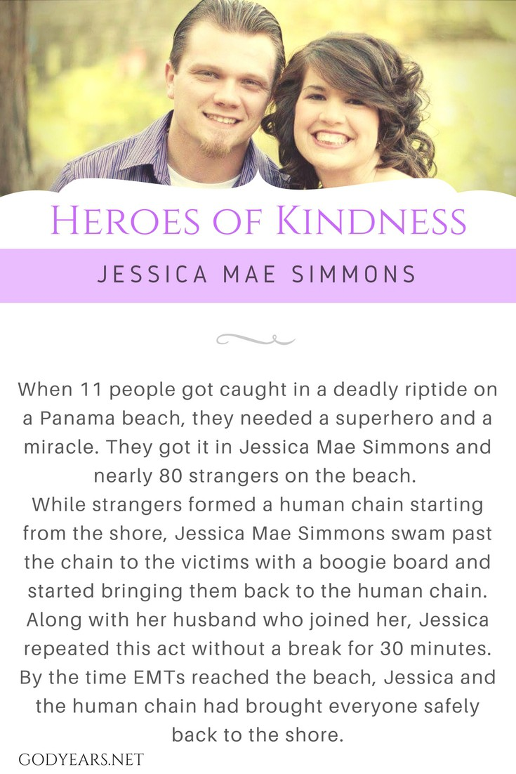 When 3 families got trapped in a riptide at Panama beach, they needed a miracle. They got it in Jessica Mae and a human chain formed by over 80 strangers