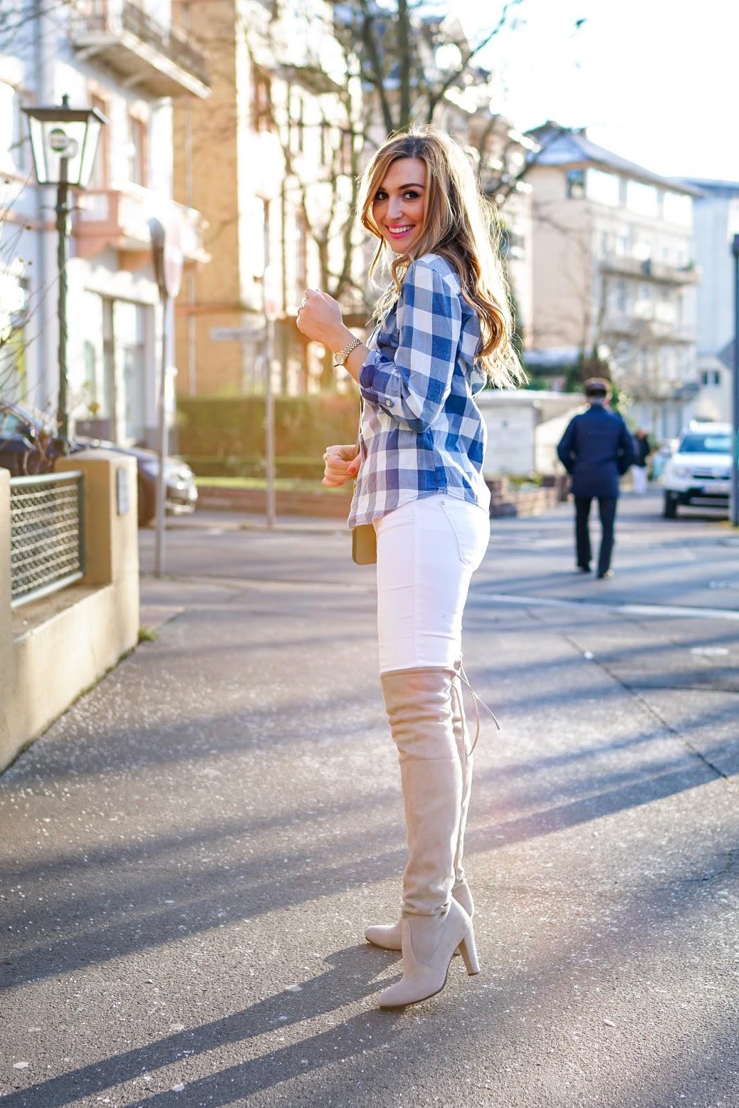 Karo Bluse kombinieren-wie-trage-ich-eine-karo-bluse