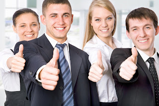 Grupo con actitud positiva