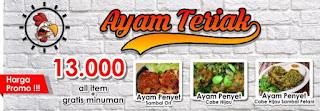 Banner Gratis Ayam Teriak Format Corel Draw Backdrop