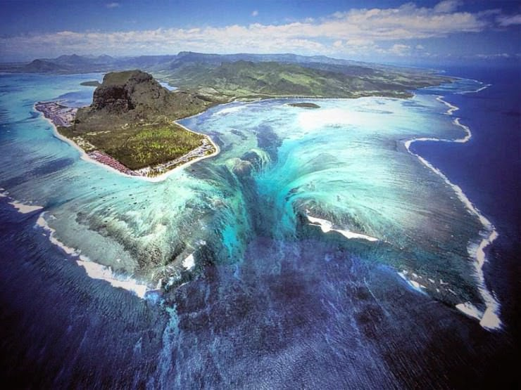 "1. ""Underwater Waterfall"", Mauritius - 29 Most Exciting Beaches to Visit"
