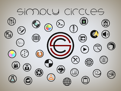 Simply Circles Icon Themes For Ubuntu, Debian, Linux Mint and Arch Linux