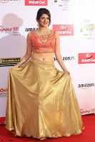 Harshika Ponnacha in orange blouuse brown skirt at Mirchi Music Awards South 2017 ~  Exclusive Celebrities Galleries 088.JPG
