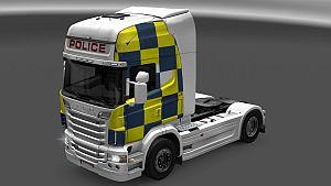 UK Police skin for Scania R