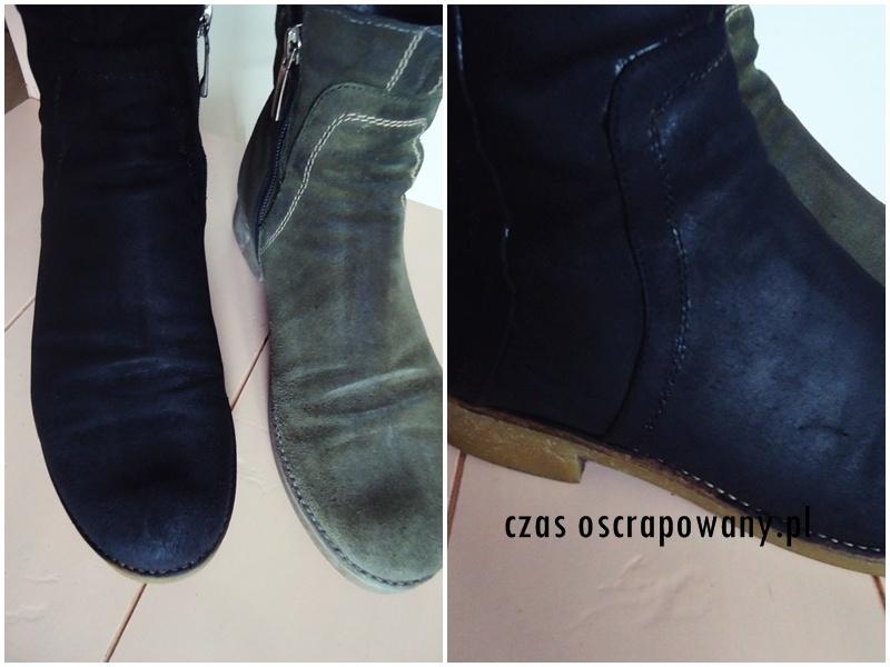 sposób na stare buty, zero waste, farbowanie butów z zamszu
