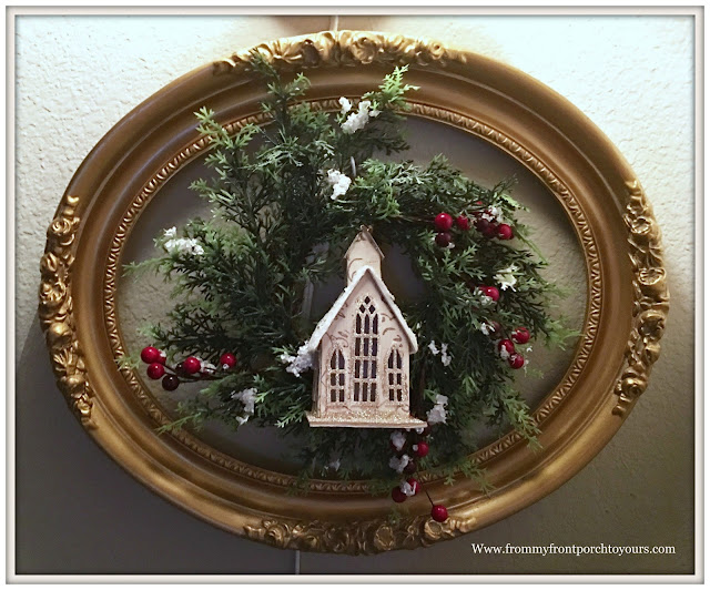 Farmhouse Christmas Decorations-French Country-French Farmhouse-Vintage Picture Frame- From My Front Porch To Yours