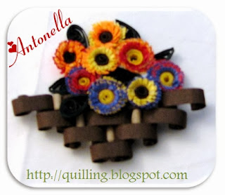 Antonella's free quilled autumn flowers
