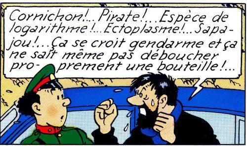Les insultes d'Archibald Haddock, un capitaine de fiction et l'un des personnages principaux de la série de bande dessinée, Les Aventures de Tintin, créée par Hergé.