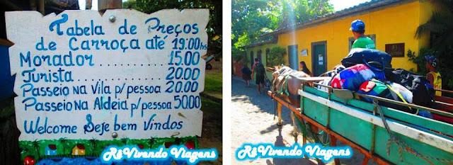 carroça pra levar as malas em Caraíva