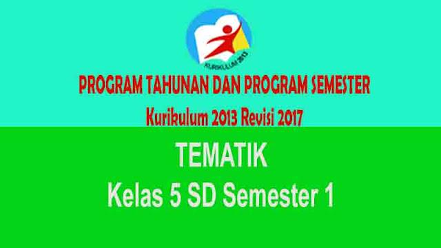 Program Semester dan Tahunan Tematik Kelas 5 SD Semester 1 K13 Revisi 2017
